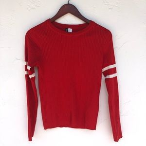 H&M Red Stripped Sweater